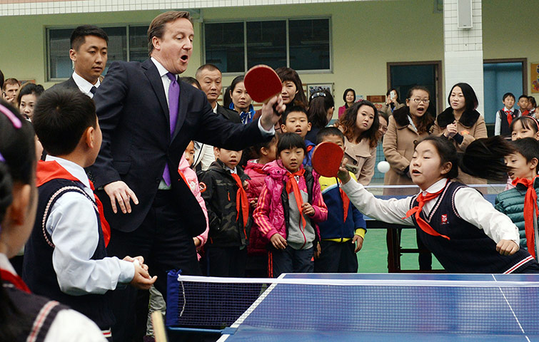 David Cameron visit to China
